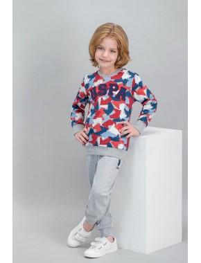 U.S. Polo Assn Lisanslı Grimelanj Erkek Çocuk Pijama Takımı V2