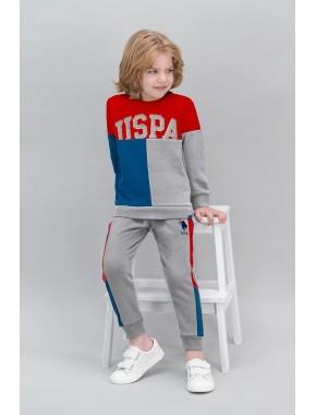 U.S. Polo Assn Lisanslı Kırmızı Erkek Çocuk Eşofman Takımı V1