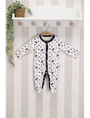 U.s. Polo Assn Lisanslı Krem Bebek Tulum