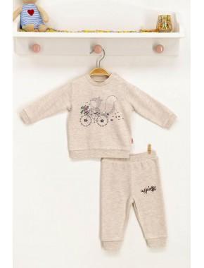 U.s. Polo Assn Lisanslı Kremmelanj Bebek Takım
