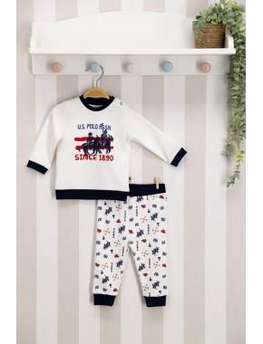 U.s. Polo Assn Lisanslı Lacivert Bebek Takım