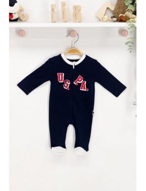 U.s. Polo Assn Lisanslı Lacivert Bebek Tulum
