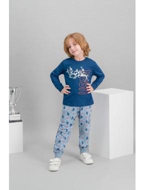 U.S. Polo Assn Lisanslı Lacivert Erkek Çocuk Pijama Takımı V2