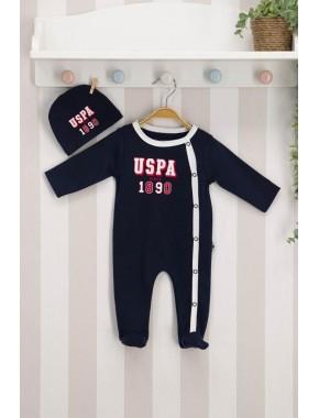 U.s. Polo Assn Lisanslı Lacivert Kırmızı Bebek Tulum