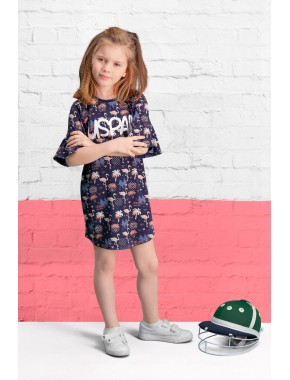 U.S. Polo Assn Lisanslı Kız Çocuk Elbise US-454-C-V2