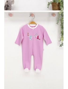 U.s. Polo Assn Lisanslı Lavanta Bebek Tulum