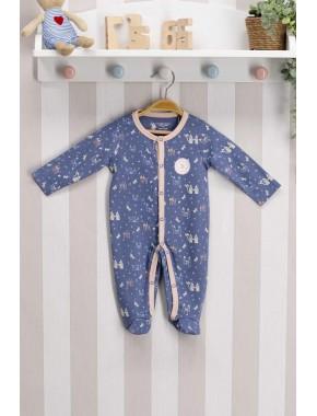 U.s. Polo Assn Lisanslı Mavi Bebek Tulum