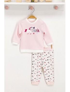 U.s. Polo Assn Lisanslı Tozsomon Bebek Takım