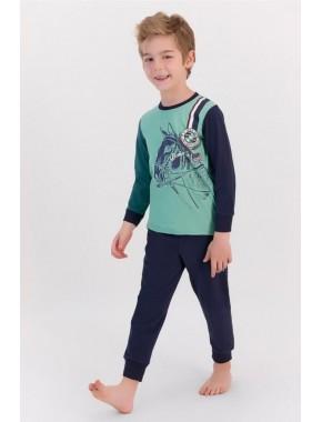 U.s. Polo Assn Mint Yeşili Erkek Çocuk Ribanalı Pijama Takımı