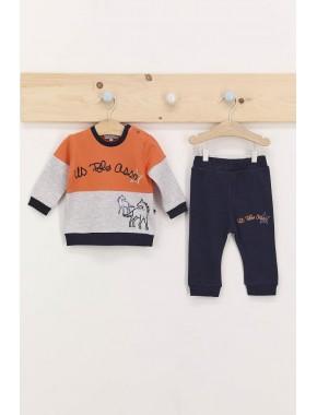 U.s. Polo Assn Turuncu Erkek Bebek Eşofman Takımı