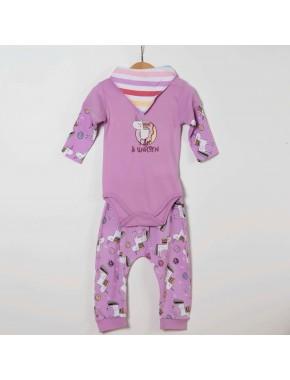 Unicorn Kız Bebek Badi-Tek Alt-Fular 3 'lü Takım