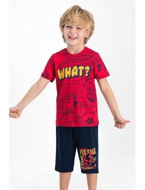 What Kırmızı Erkek Çocuk Kapri Takım RPOLY1664G