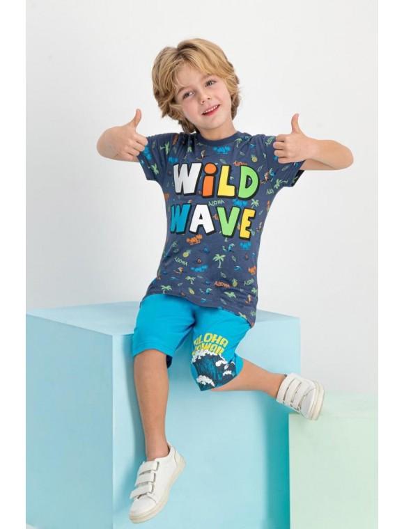 Wil Wave Gri Erkek Çocuk Kapri Takım RPOLY16591