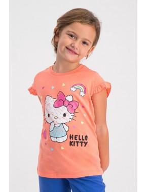 Yavruağzı Kız Çocuk Yavruağzı T-Shirt TL-235-C-V3